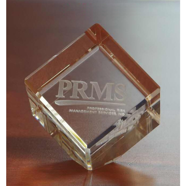 Promotional Small 3D Crystal Jewel Cube Award