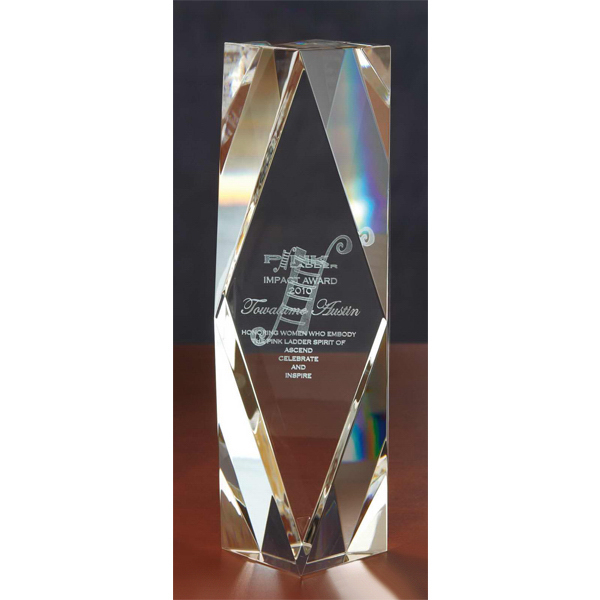Custom 3D Crystal Chairman's Award