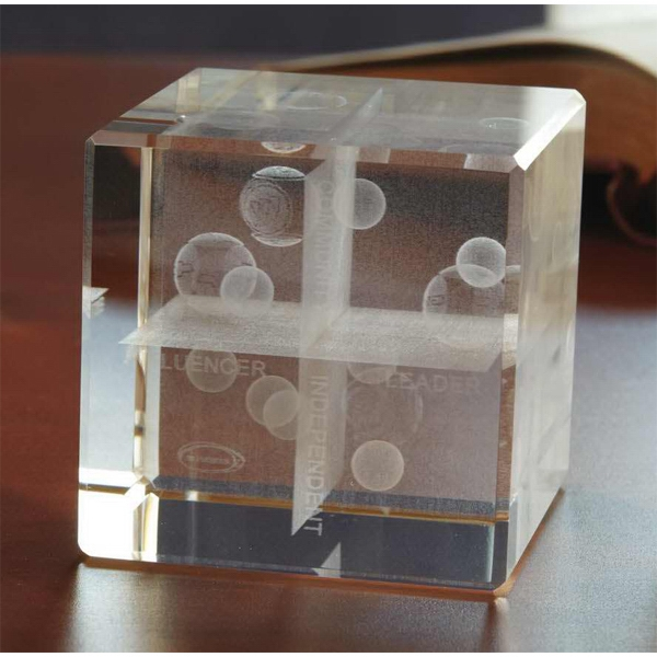 Personalized 3D Crystal Flat Cube
