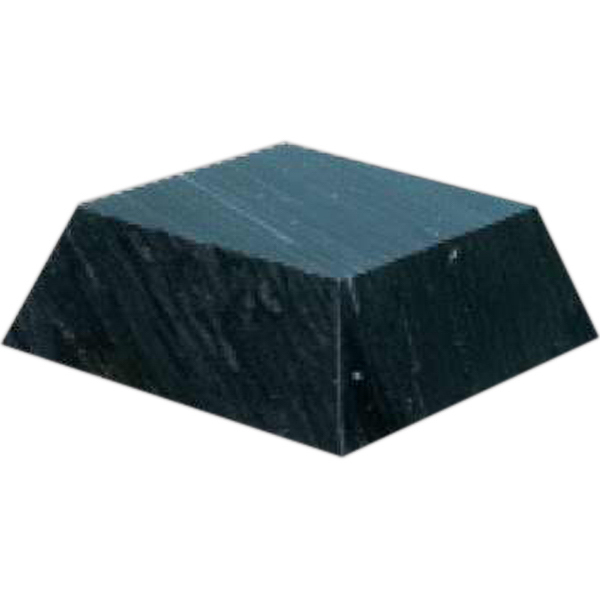 Imprinted Small Black Marble Pyramid Base