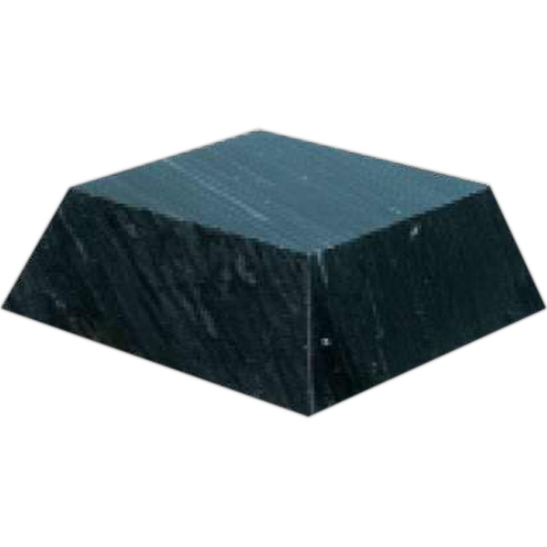 Custom Medium Black Marble Pyramid base