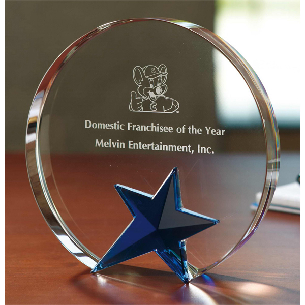 Promotional Circle Star Optically Perfect Award