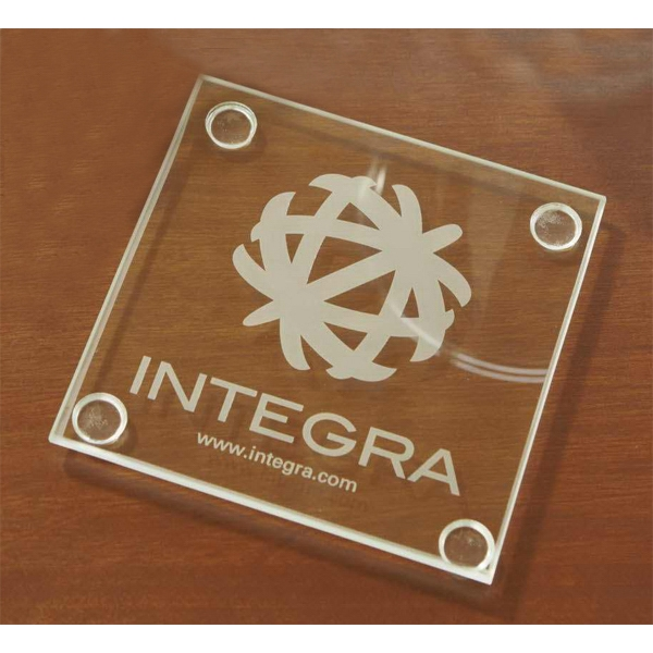 Personalized Economy Glass Coaster Set