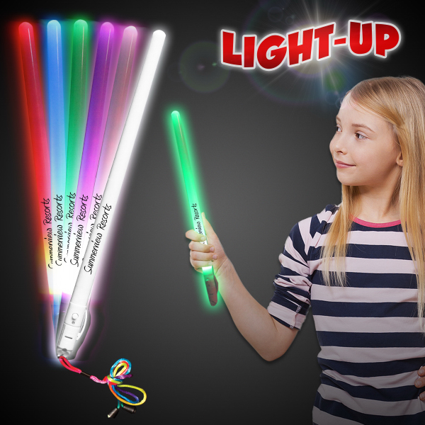 "Customized 11"" Light Up LED Electronic Glow Stick"