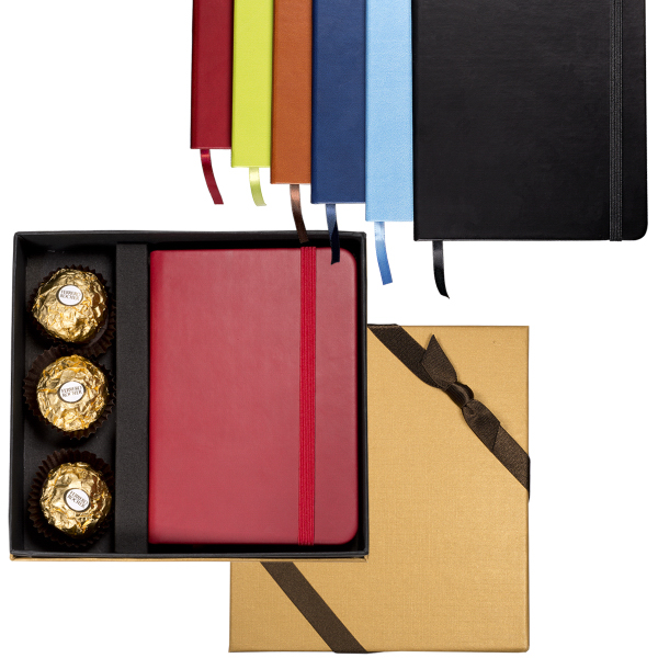 Customized Ferrero Rocher (R) Chocolates & Junior Tuscany Journal Set