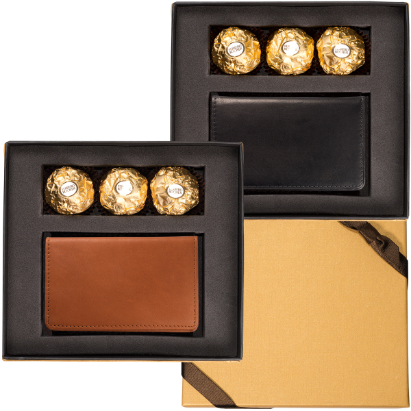 Personalized Ferrero Rocher (R) Chocolates & Alpine Card Case