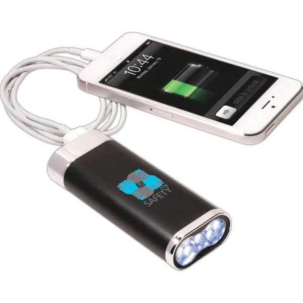 Printed Mobile Charger with LED Light