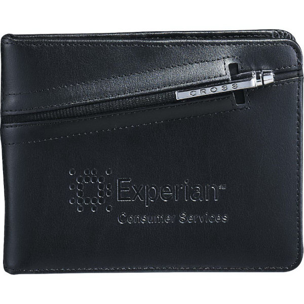 Imprinted Cross (R) Passport Wallet with Pen
