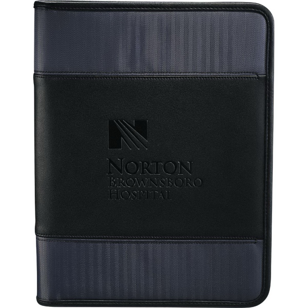 Printed Cutter & Buck (R) Pacific Series Zippered Padfolio
