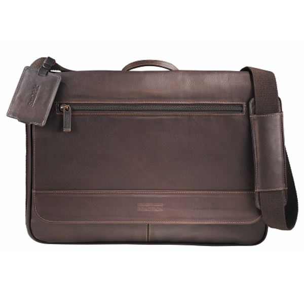 Customized Kenneth Cole (R) Colombian Leather Compu-Messenger