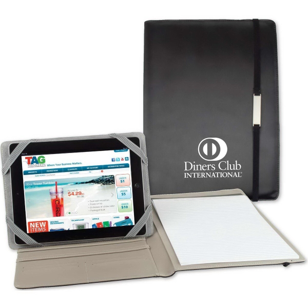 Customized Navarro Padfolio with Tablet Stand