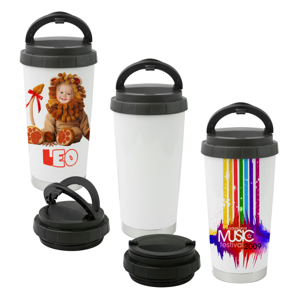 Personalized Sublimation Thermos 16 oz (White)