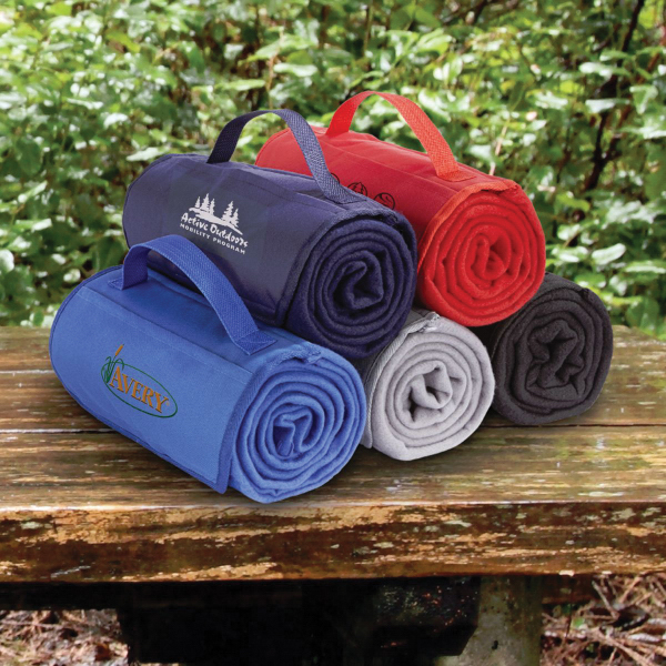 Promotional Fleece Roll Up Blanket