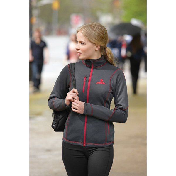Imprinted North End Sport (R) Ladies' Bonded Fleece Jacket with Print
