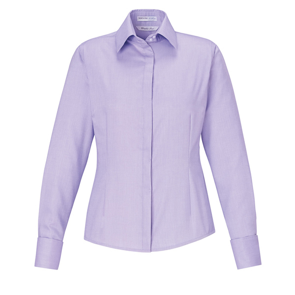 Imprinted Ladies' 2-Ply 80's Cotton Royal Oxford Dobby Taped Shirt