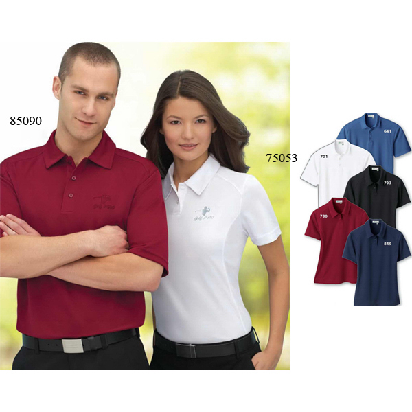 Imprinted Men's Recycled Polyester Performance Birdseye Polo