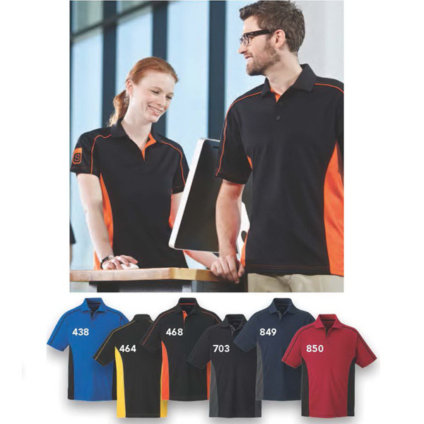 Imprinted Fuse EPerformance Snag Protection Plus Color Block Polo
