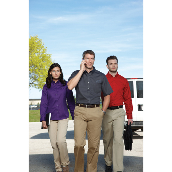 Customized Core365 (TM) by North End (R) Men's Short Sleeve Twill Shirt