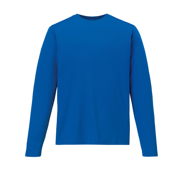 Custom Men's Performance Long Sleeve Pique Crew Neck Shirt