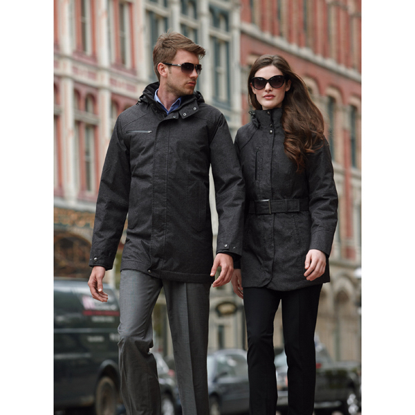 Imprinted Men's Textured Insulated Jacket with Heat Reflect Technology