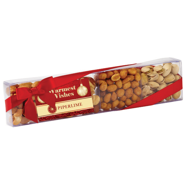 Personalized Nut Sensation with Pistachios, Peanuts, Mixed Nuts & Cashews