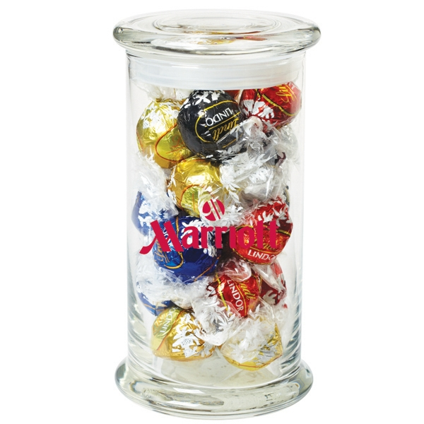 Promotional 18 Lindt Truffles in Glass Status Jar