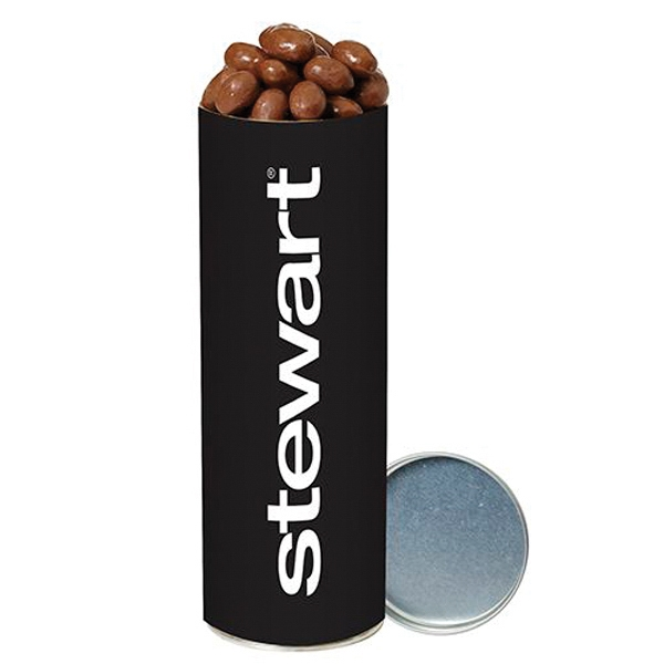 Custom Chocolate Covered Almonds  in Large Snack Tube