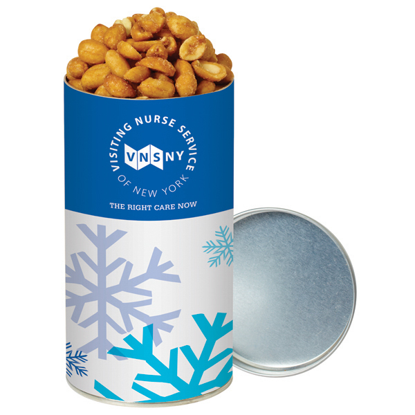 Promotional Honey Roasted Peanuts in Small Holiday Snack Tube