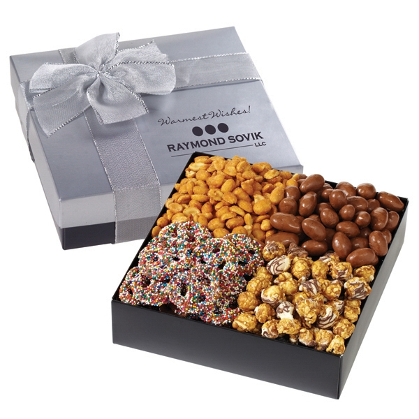 Promotional Gift Box with Nuts, Popcorn and Pretzels