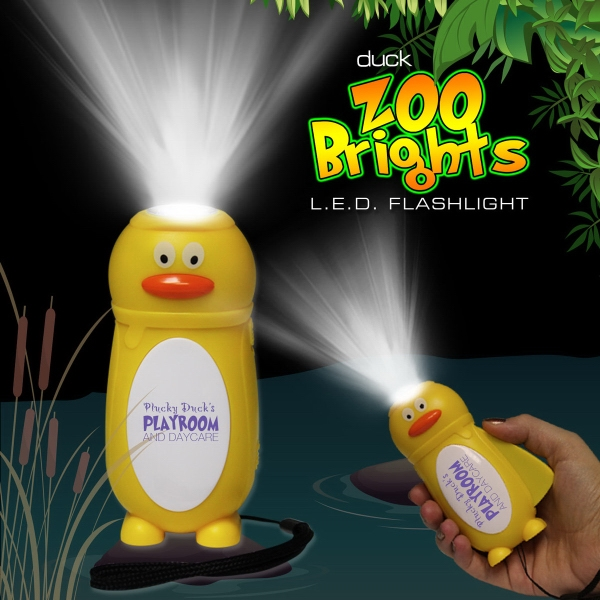 Printed Duck Zoo Brights Flashlight