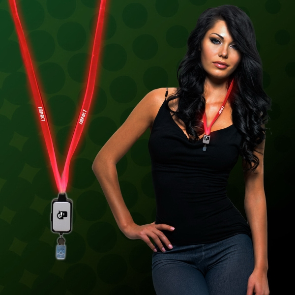 Custom Light Up LED Lanyard with Badge Clip
