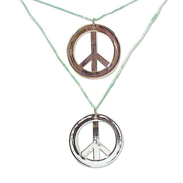 Personalized Metallic Peace Necklaces
