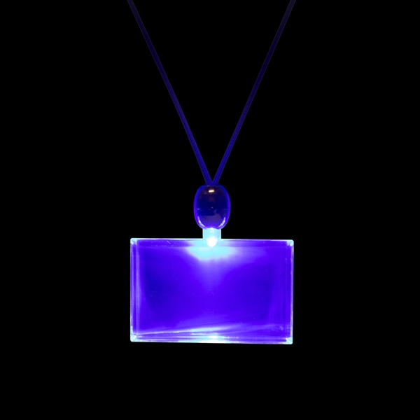 Promotional Light Up Rectangle Necklaces