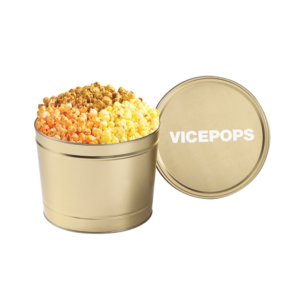 Custom 3 Way Popcorn Tin / 1.5 Gallon