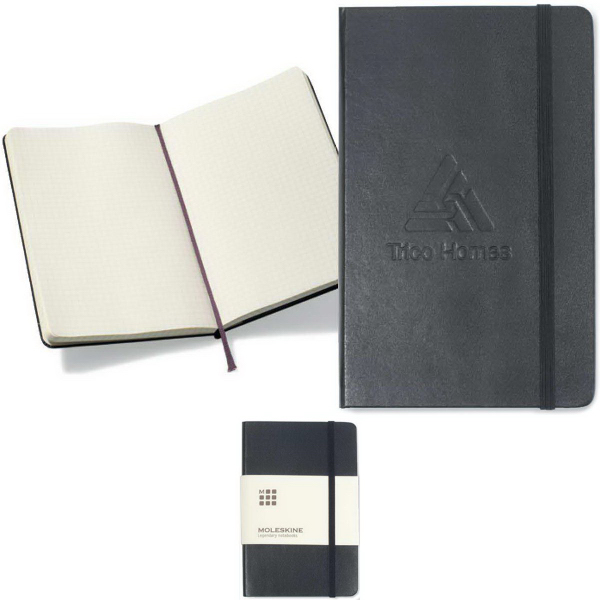 Printed Moleskine Hard Cover Squared Large Notebook