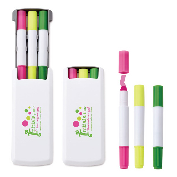 Promotional Sonia Highlighter/Washable Window Marker Caddy
