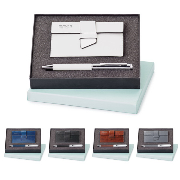Personalized Fabrizio Pen and Card Case Set