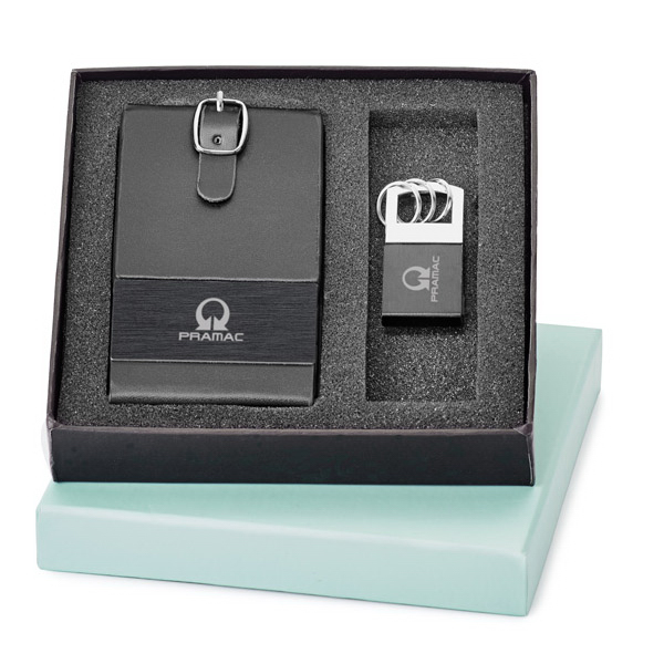 Customized 2-Piece Luggage Tag and Key Ring Set
