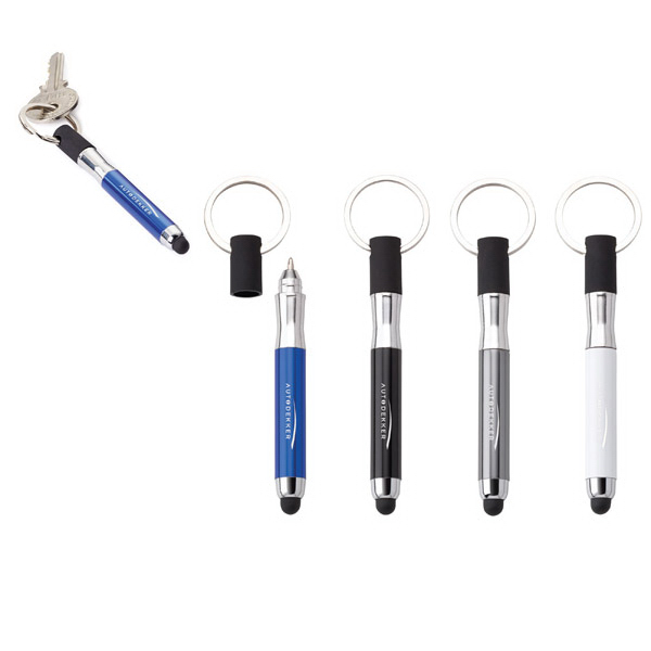 Imprinted Rosanno 3-in-1 Pen/Stylus/Key Ring