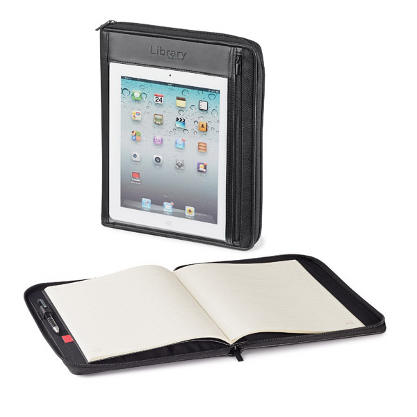 "Custom Tablet Holder with 8 3/8"" x 10 7/8"" Refillable Journal"