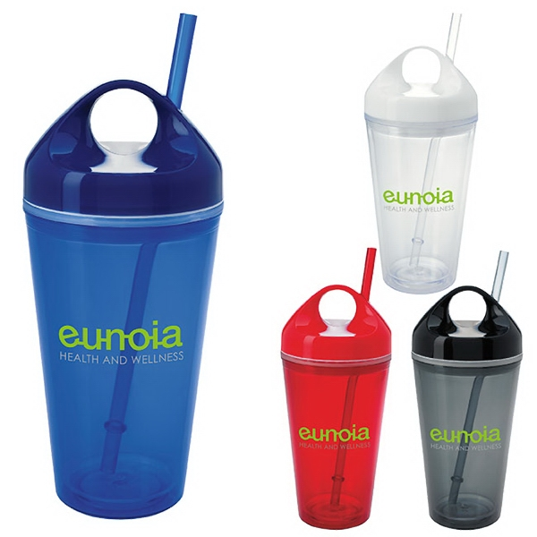Custom Circle Lid Acrylic Tumbler - 16 oz