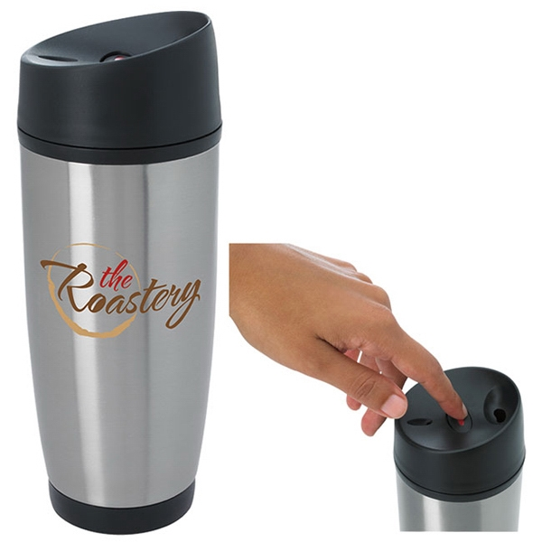 Custom Classic Tumbler with Press Button Lid - 13 oz