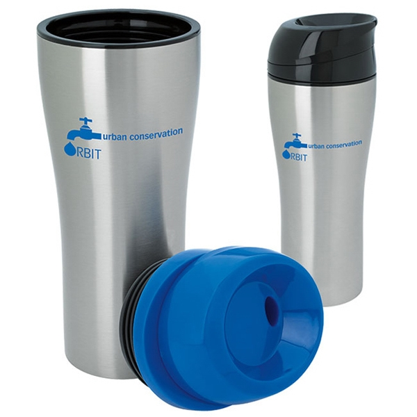 Personalized Stainless Tumbler with Sliding Lid - 15 oz