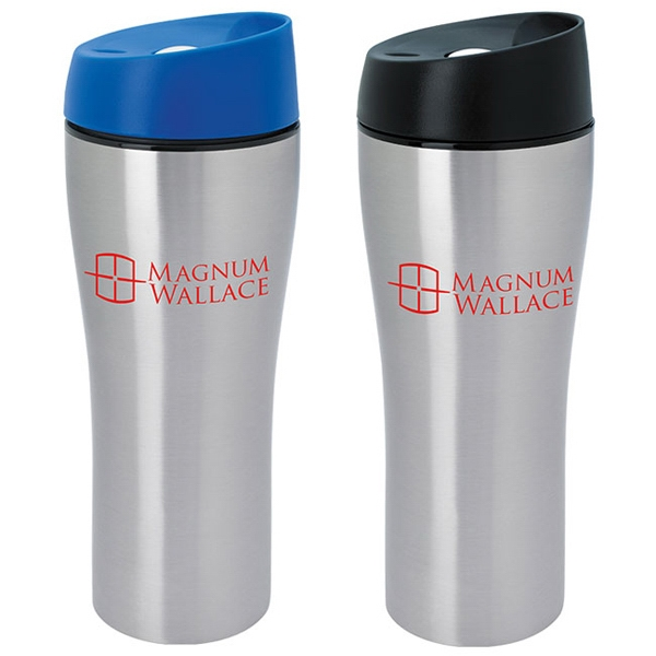 Customized Stainless Tumbler with Press Button Lid - 15 oz