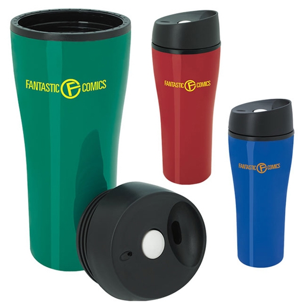 Customized Acrylic Tumbler with Press Button Lid - 15 oz