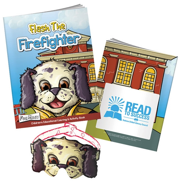 Promotional Flash the Fire Fighter Coloring Book with Mask