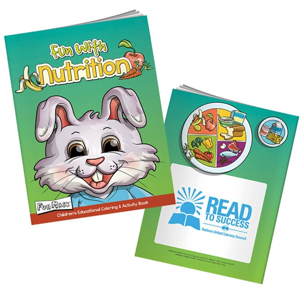 Custom Fun with Nutrition Coloring Book with Mask