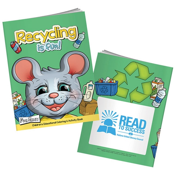 Personalized Recycling Is Fun Coloring Book with Mask