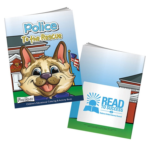 Custom Police to the Rescue Coloring Book with Mask