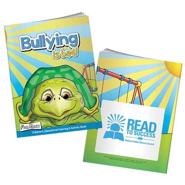 Personalized Bullying is Bad Coloring Book with Mask